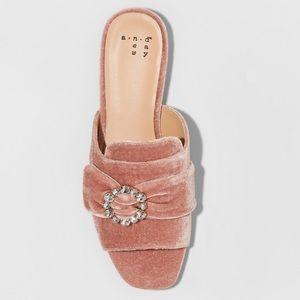 Women's Dina Velvet embellished slide sandals